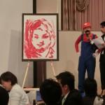 岡﨑新会員による渾身の瀬尾理事長の肖像画