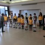 合唱団の子供達。リハーサル中。