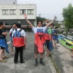 宮島でシーカヤック体験