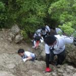 例会終了後、三徳山の修験道を体験